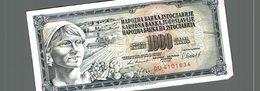 1000 DINARA - Yougoslavie