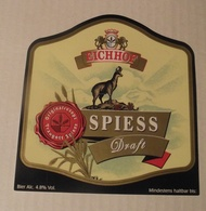 THEME CHAMOIS : ETIQUETTE BIERE EICHHOF SPIESS DRAFT - NEUVE - Beer