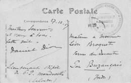 PIE-Arg-18-6584 :  CACHET FRANCHISE MILITAIRE. CAMP DES PRISONNIERS DE GUERRE DES HAUTS-FOURNEAUX. MONDEVILLE CALVADOS - Marcophilie (Lettres)