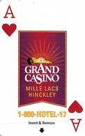 Grand Casino Mille Lacs & Hinckley - Hotel Room Key Card - Hotel Keycards