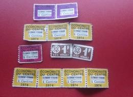 14 BONS POINTS Timbres VIGNETTES ÉCONOMATS Du CENTRE  CLERMONT-FERRAND COOP UDC HÉRAULT Erinnophilie - Commemorative Labels