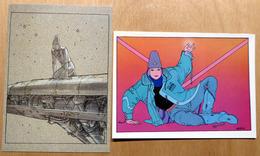 MOEBIUS    : Lot De 2 Cartes Postales - 1983 - Bandes Dessinées