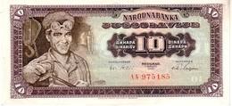 Yugoslavia P.78 10 Dinars 1965 Au++ - Yugoslavia