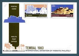 "MALTA - 1983 - Europa Cept Cartolina Postale X Tembal ""83 Nuova** Perfetta - Europa-CEPT"