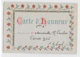 """TABLEAU D'HONNEUR - 1926  - """" R. FOUCHER """" - Magasin Ameublement - Tapissier Décorateur - Rue Courthardy LE MANS - Diploma & School Reports"""