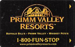 Primm Valley Resorts - Buffalo Bill's / Primm Valley / Whiskey Pete's - Hotel Room Key Card - Hotel Keycards