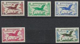 "Cambodge Aerien YT 10 à 14 "" Oiseau Env Vol "" 1957 Neuf** - Cambodia"