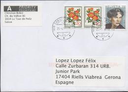 3340  Carta  Urgente Chailly Montreux 2016 - Switzerland