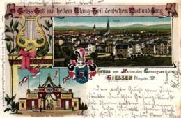 "Giessen, Farb-Litho ""Nationaler Gesangswettstreit Pfingsten 1904"" - Giessen"