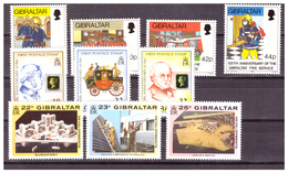 GIBRALTAR -  1990 - THREE COMPLETE SETS. - MNH** - Gibraltar