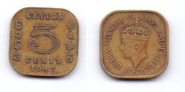Ceylon 5 Cents 1945 - Sri Lanka