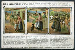 """CPA Color AK German Empires,DR Bergmann,The Miner 1908 """"Liederkarte-Das Bergmannskind """"1 Karte - Mijnen"""