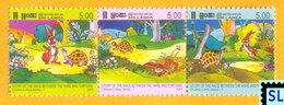 Sri Lanka Stamps 2007, Children's Story Of Race Between Hare And Tortoise, MNH - Sri Lanka (Ceylon) (1948-...)