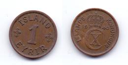 Iceland 1 Eyrir 1940 - Islande