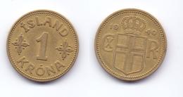 Iceland 1 Krona 1940 - Iceland