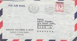 TANGIER - AIR MAIL LETTER 1956 -> VIENNA/AUSTRIA - Oficinas En  Marruecos / Tanger : (...-1958