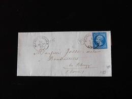 LETTRE DE BLANGY SUR BRESLE POUR BOUTTENCOURT  -  1865  - - Storia Postale