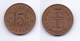 Iceland 5 Aurar 1946 - Islande