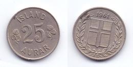 Iceland 25 Aurar 1961 - Iceland