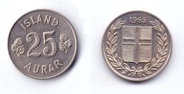 Iceland 25 Aurar 1965 - Islandia