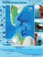 Argentina 2018  Continental Platform Map Ship SS MNH - Other