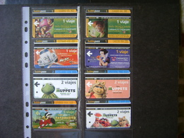 ARGENTINA - 8 PASSAGES OF BUENOS AIRES METRO WITH PROPAGANDA OF CHILDREN FILMS - Tickets - Vouchers