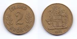 Iceland 2 Kronur 1962 - Islande
