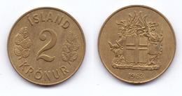 Iceland 2 Kronur 1963 - Iceland