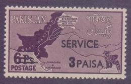 PAKISTAN 1961 - 3 PAISA Surcharged And SERVICE Overprint On 6 PAISA MAP Of Pakistan With KASHMIR Stamp, MNH - Pakistan