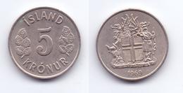 Iceland 5 Kronur 1969 - Islande