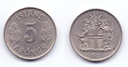 Iceland 5 Kronur 1973 - Islande