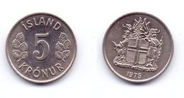 Iceland 5 Kronur 1975 - Islande