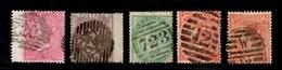 Grande-Bretagne YT N° 16, N° 19, N° 20 Et N° 25 (2) Oblitérés. B/TB. A Saisir! - 1840-1901 (Victoria)