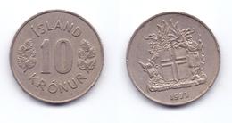 Iceland 10 Kronur 1971 - Islande