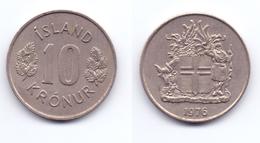 Iceland 10 Kronur 1976 - Islande