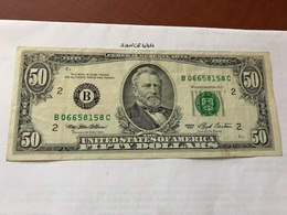 USA United States $50.00 Banknote 1993 #1 - National Currency