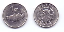 Iceland 1 Krona 1981 - Islande