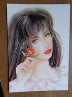 7 Kaarten Met VROUWEN - FEMMES - WOMAN / Fantasie --> Unwritten - Postkaarten
