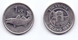 Iceland 1 Krona 1991 - Islande