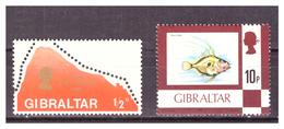 GIBRALTAR -  TWO ODD VALUES. - MNH** - Gibraltar