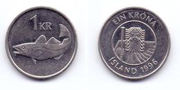 Iceland 1 Krona 1996 - Iceland