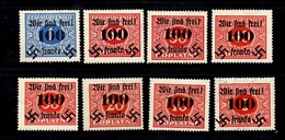 "Allemagne Sudètes/Sudetenland ""Wir Sind Frei""Michel N° 36/43 Complet Neufs ** MNH. TB. A Saisir! - Bezetting 1938-45"