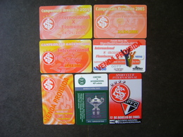 7 FOOTBALL TICKETS OF THE SPORT CLUB INTERNACIONAL / BRAZIL - Tickets D'entrée