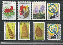 CENTRAFRIQUE  Scott 680-682, 670-672, 699-700 Yvert 643-645, 640-642, 653N-653P ** (8) Cote 14,50 $ 1984 - Centrafricaine (République)