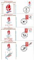 1990 - FDC - XVIe JEUX OLYMPIQUES D'HIVER - ALBERTVILLE 92 - 4 Enveloppes Tp N° 2632 - 2633 - 2674 - 2675 - 1990-1999