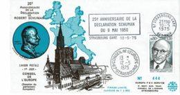 "1975 -Strasbourg -Conseil De L'Europe -Obl SECAP ""25eme ANNIV. DE LA DECLARATION SCHUMAN Du 9 Mai 1950"" -Tp N°1826 - Europese Instellingen"