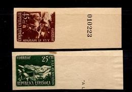 Espagne YT N° 632/633 Non Dentelés Neufs ** MNH. TB. A Saisir! - 1931-50 Neufs