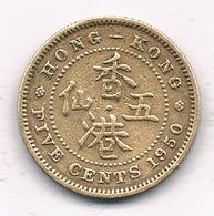 5  CENTS 1950 HONKONG /7719/ - Hong Kong