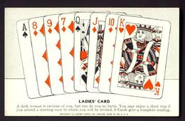 FORTUNE TELLING PLAYING CARD CARDS ~ Ladies' Card - Ace, 8,9,7,queen Jack, 10, King - Playing Cards