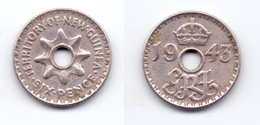 New Guinea 6 Pence 1943 - Papouasie-Nouvelle-Guinée
